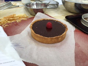 chocolate-raspberry-tart