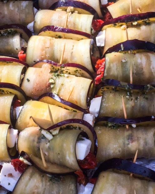Aubergine-Wrap
