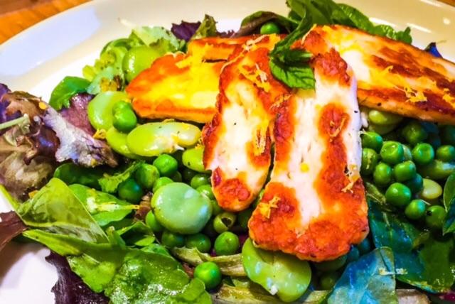 Halloumi-Broad-Bean-Salad