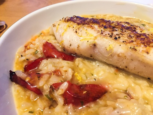 Pan-Fried Cod with Lemon Risotto
